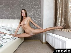 Freshly in from a night out, 20 year old Antuanetta is too horny to wait another second! She flings off her dress, bra, and panties so that she is totally naked and ready to party. It's not long before she has settled onto her bed so that she can indulge