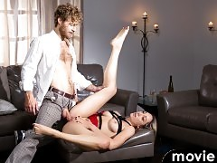 Lily Labeau loves to be tied up while his BF fucks her